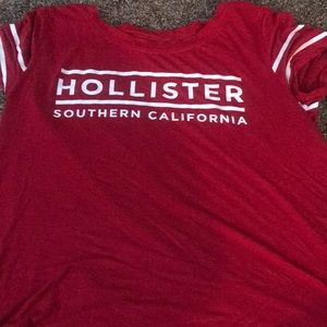 Red and white Hollister shirt